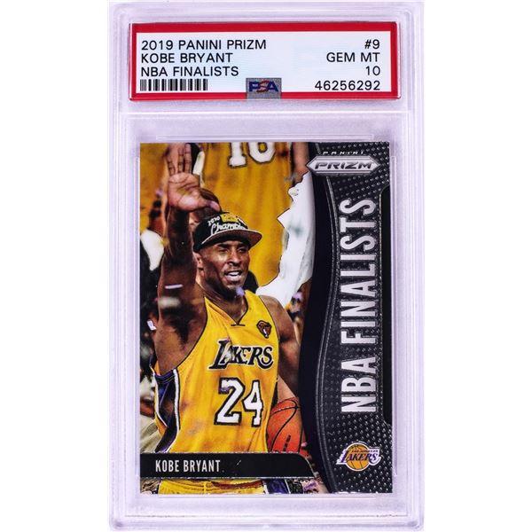 2019 Panini Prizm NBA Finalists Kobe Bryant NBA Card #9 PSA Gem Mint 10