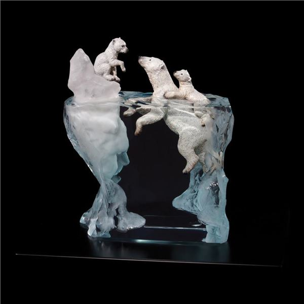 """Kitty Cantrell """"A Mother'S Calling"""" Limited Edition Mixed Media Lucite Sculpture"""
