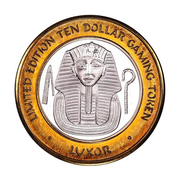 .999 Silver Luxor Las Vegas, NV Casino $10 Casino Limited Edition Gaming Token
