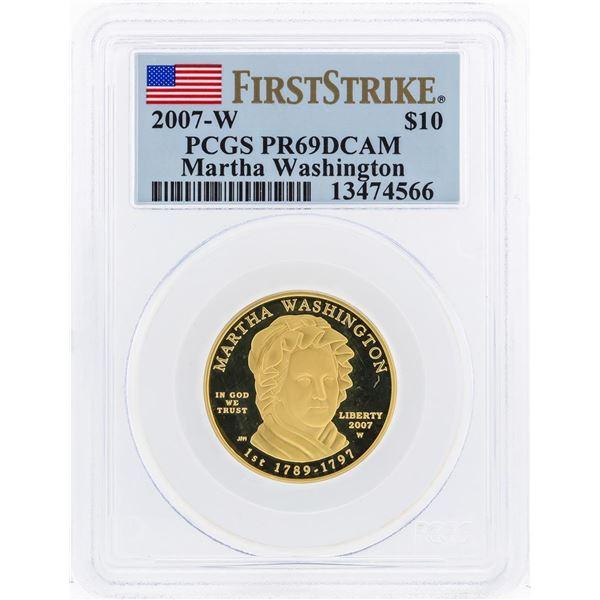 2007-W $10 Martha Washington Commemorative Gold Coin PCGS PR69DCAM
