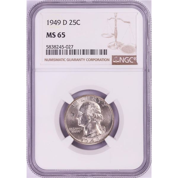 1949-D Washington Quarter Coin NGC MS65