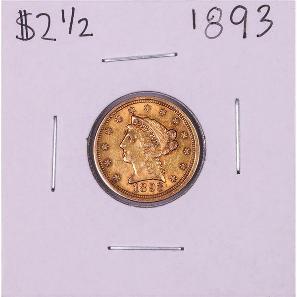 1893 $2 1/2 Liberty Head Quarter Eagle Gold Coin