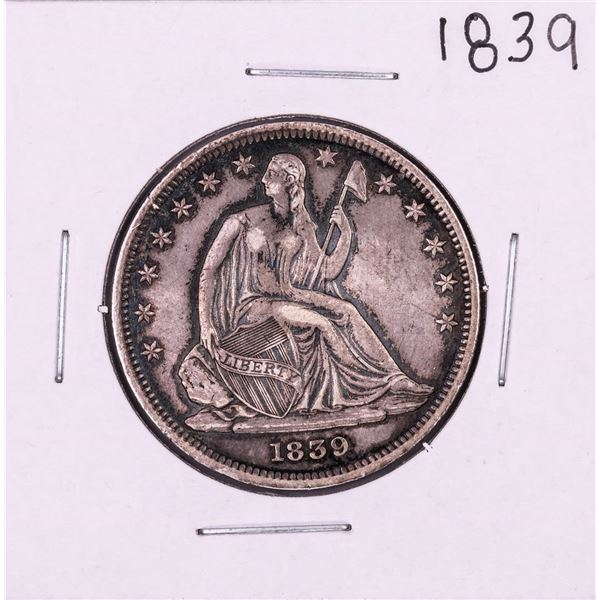 1839 with Drapery Seated Liberty Half Dollar Coin