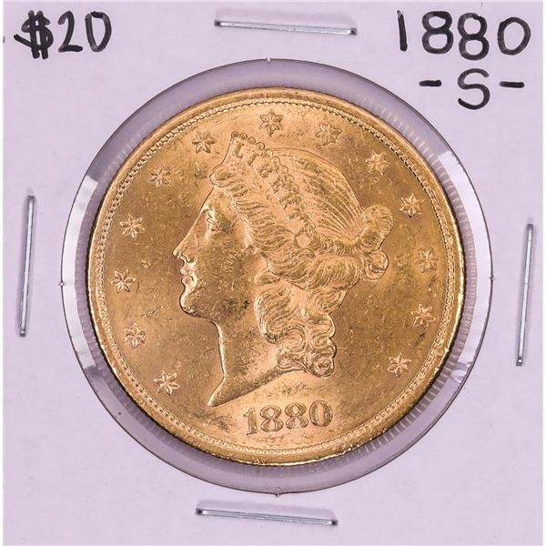 1880-S $20 Liberty Head Double Eagle Gold Coin