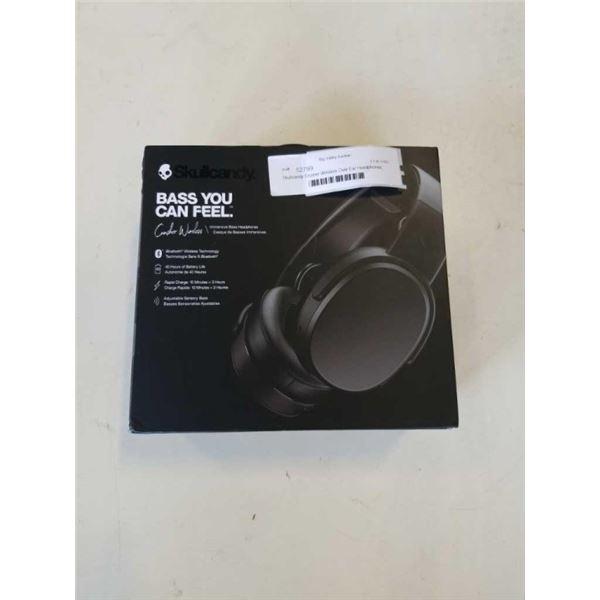 Skullcandy Crusher Wireless Over-Ear Headphones, Black (S6CRW-K591) tested and working