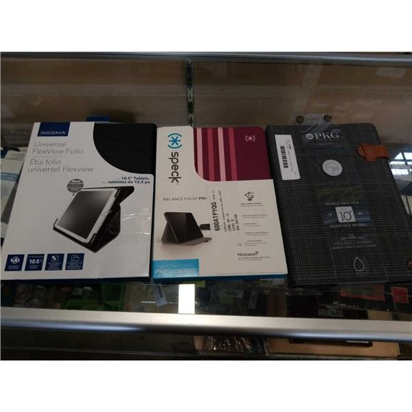 3 NEW TABLET CASES - PKG, SPECK, AND INSIGNIA