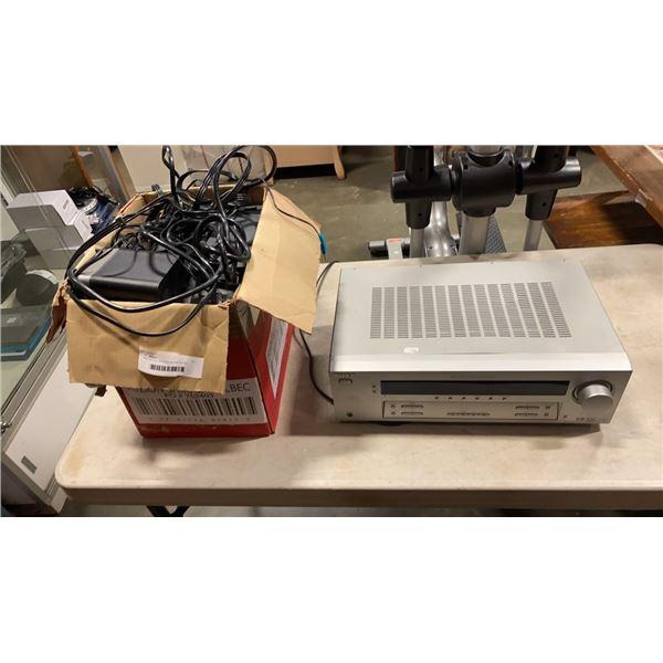 SONY DIGITAL AV CENTER AND ALTEC LANSING SURROUND COMPUTER SPEAKER SET