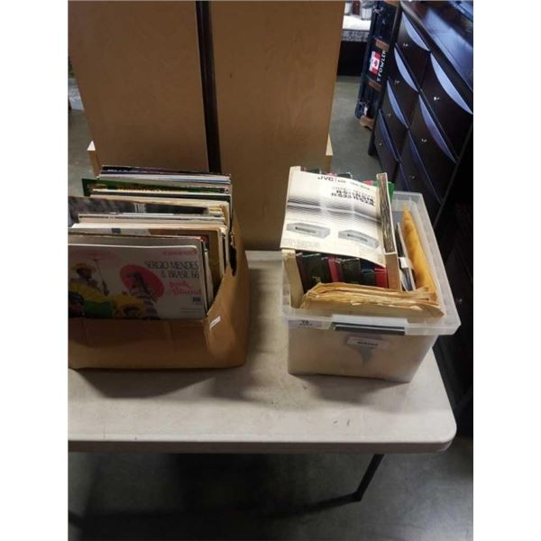 TWO TOTES OF RECORDS