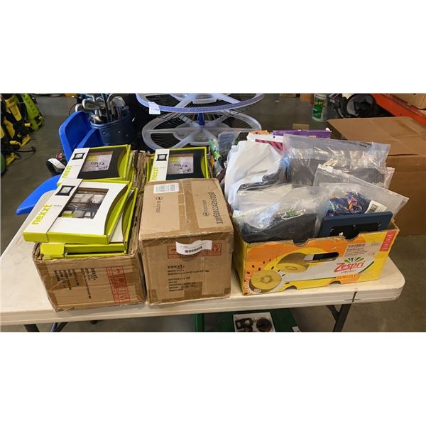 LOT OF PICTURE FRAMES AND AMAZON ITEMS