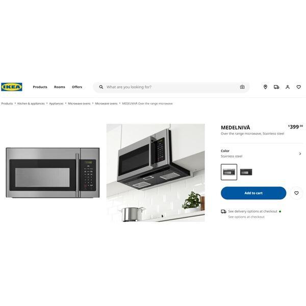 NEW IKEA MEDELNIVA MICROWAVE - RETAIL $399