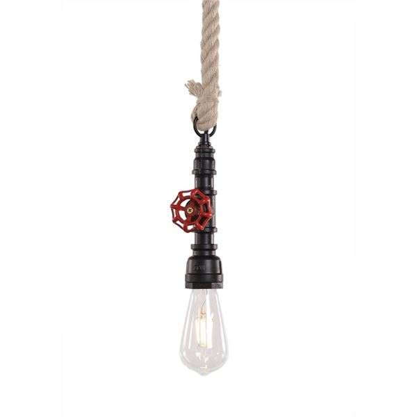 NEW MODERN RUSTIC AND INDUSTRIAL STYLE ROPE PENDANT LIGHT - BULB NOT INCLUDED