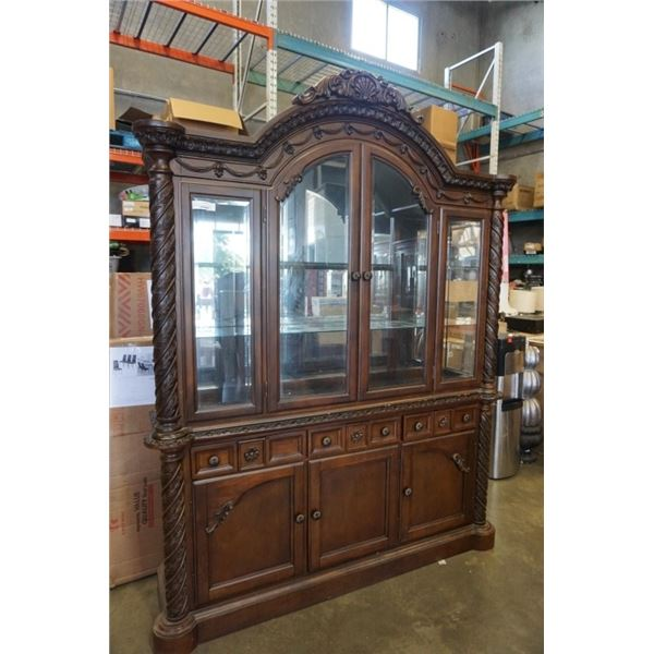 2 PIECE CHINA CABINET MADE IN MALAYSIA
