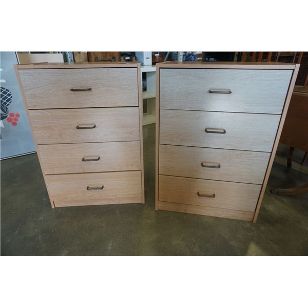 TWO 4 DRAWER DRESSERS
