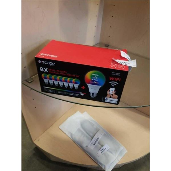 Escape Smart Wi-Fi Dimmable RGB A19 Bulb with Smart Assistant Compatibility - 8 Pack (SMB470) RETAIL