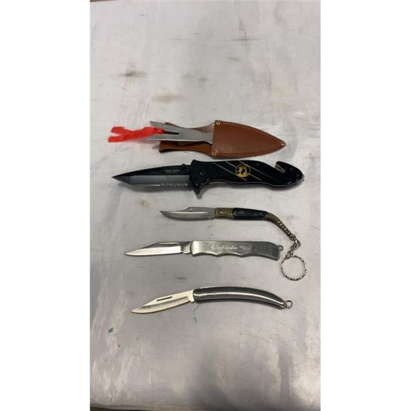 NEW HERO EDGE FOLDING KNIFE WITH 3 POCKET KNIVES AND THROWING KNIFE