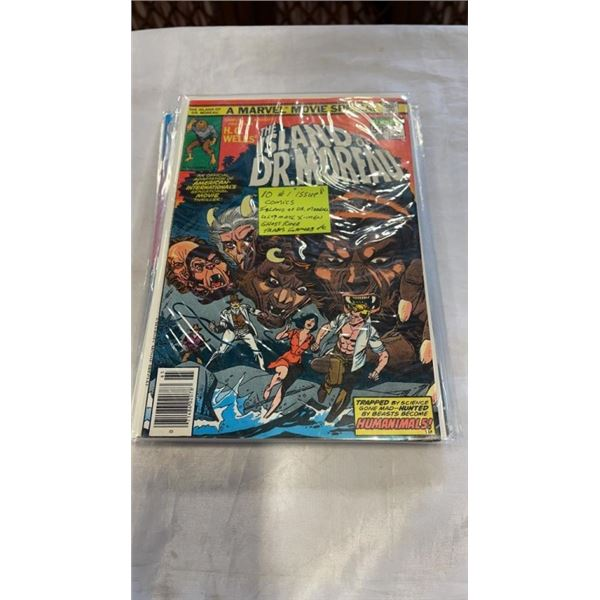 10 #1 ISSUES ISLAND OF DR. MOREAU, ULTIMATE XMEN, GHOST RIDER, TRANSFORMERS, ETC