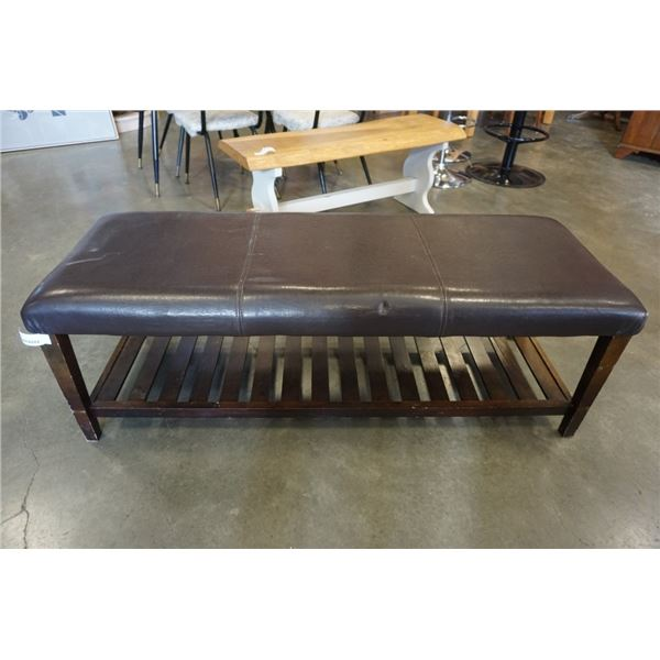 LEATHER LOOK BENCH