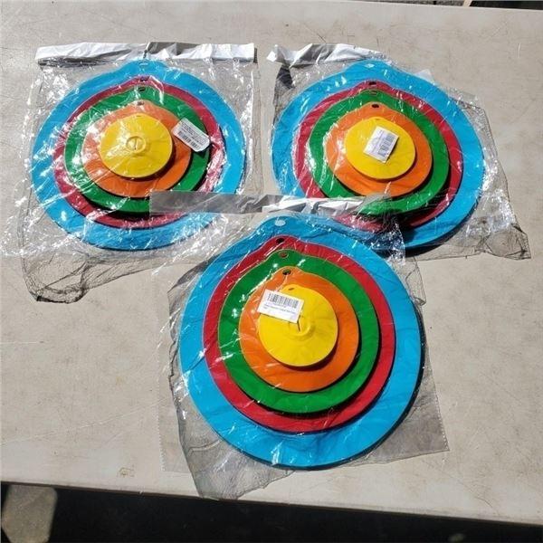 3 NEW 5 PCS Silicone Suction Lids Cover Sets Retail $28 per set Reusable Covers for Bowls Pan Pots