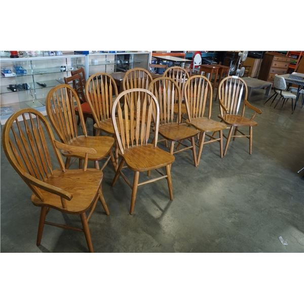 9 hoop back dining chairs