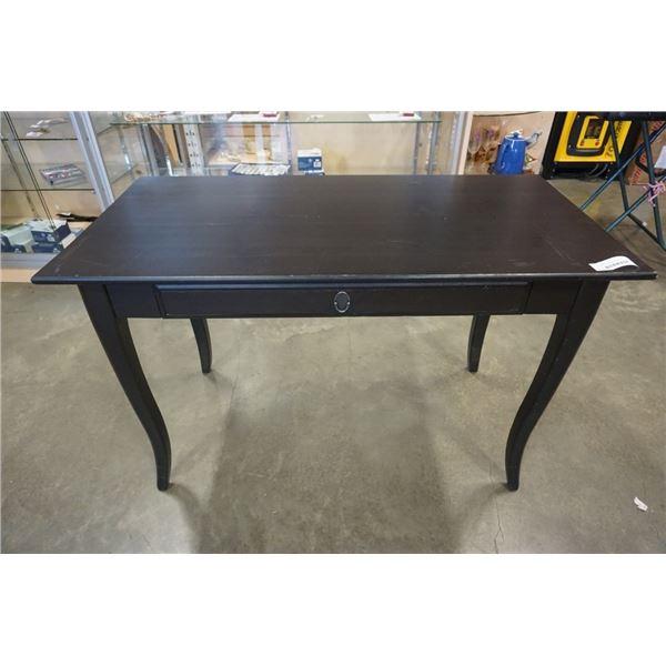 BLACK IKEA 1 DRAWER DESK