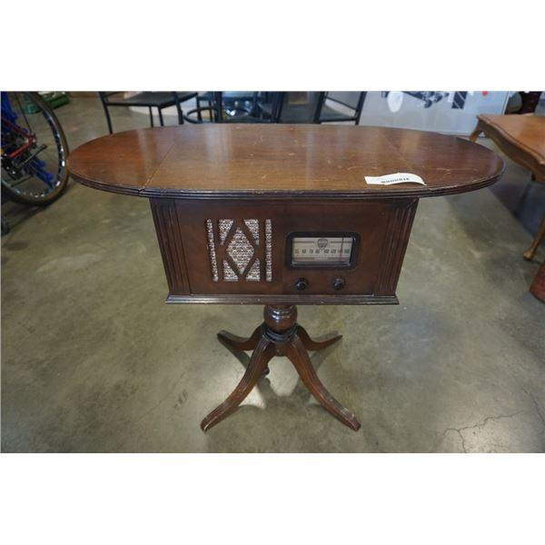 VINTAGE VIKING RADIO DROPSIDE TABLE