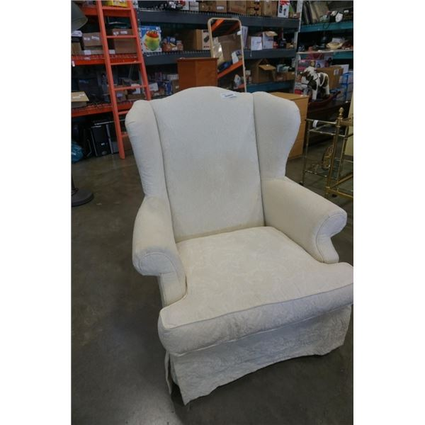 SCHNADIG UPHOLSTERED WINGBACK ARMCHAIR