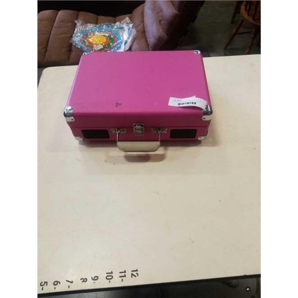 SMALL PINK CROSLEY 45 RECORD PLAYER