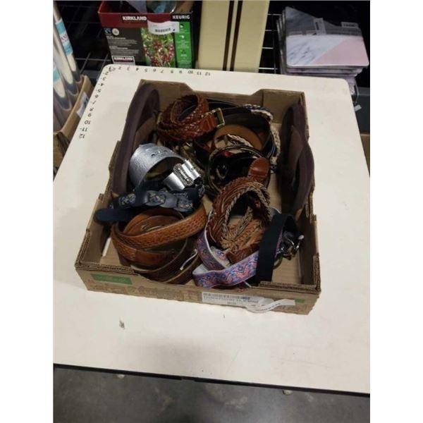 BOX OF BELTS