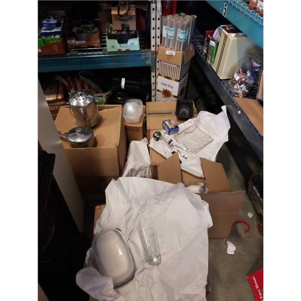 6 BOXES OF KITCHEN ITEMS