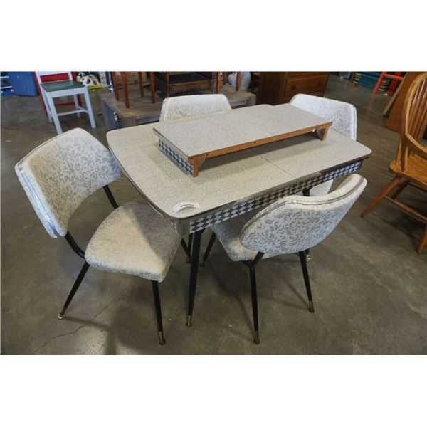 MCM RETRO ARBORITE DINING TABLE WITH 4 CHAIRS