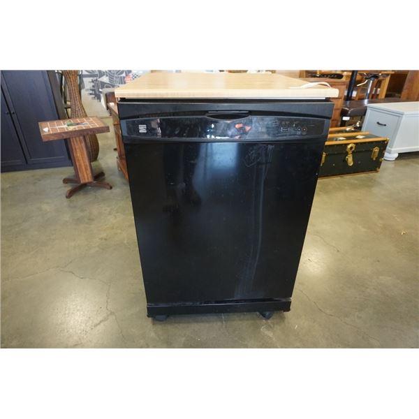 Black kenmore portable dishwasher