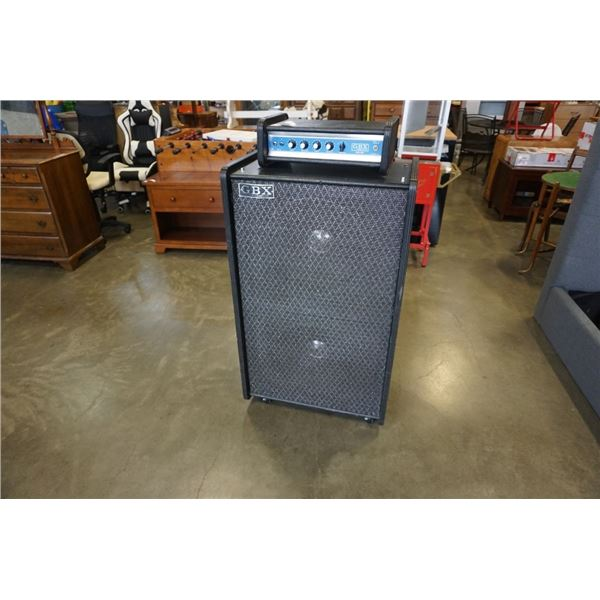 """GBX WITH POWERED 2- 15"""" SPEAKERS GUITAR/BASS AMPLIFIER TESTED WORKING"""