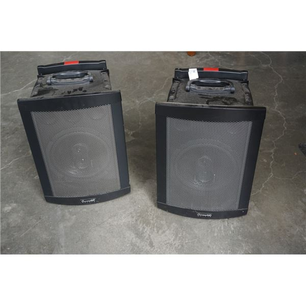 CHALLENGER 1000 PORTABLE WIRELESS PA SYSTEM WITH SLAVE SPEAKER - WORKING