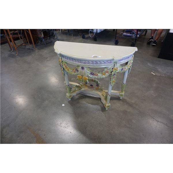 DECORATIVE D TABLE - FLOWER DESIGNS