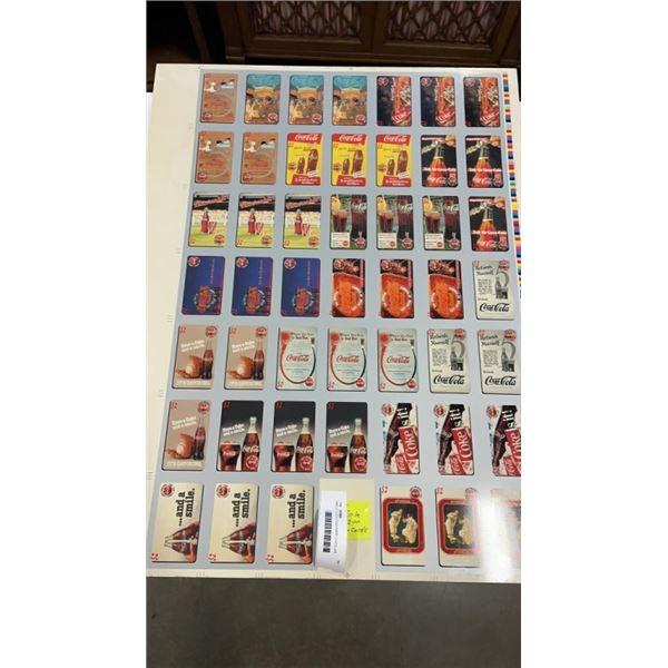 UNCUT COCA COLA RARE 2 DOLLAR CALLING CARDS SHEET