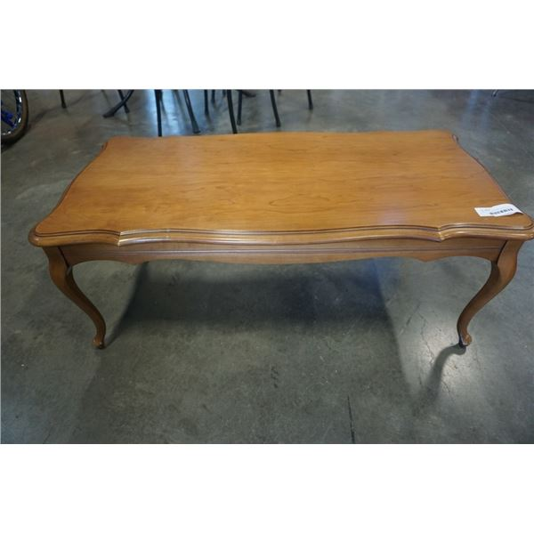 KNECHTEL FURNITURE FRUITWOOD COFFEE TABLE