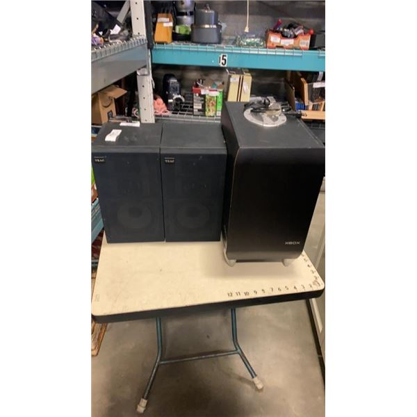 XBOX 5.1 SUBWOOFER AND PAIR OF TEAC SPEAKERS