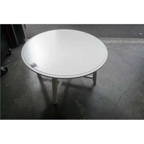 WHITE ROUND IKEA COFFEE TABLE