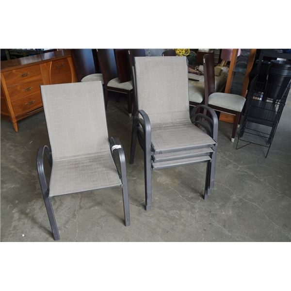 4 STACKING PATIO CHAIRS