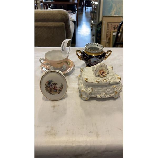 4 PIECES COLLECTABEL CHINA SCZEILER AND OTHER
