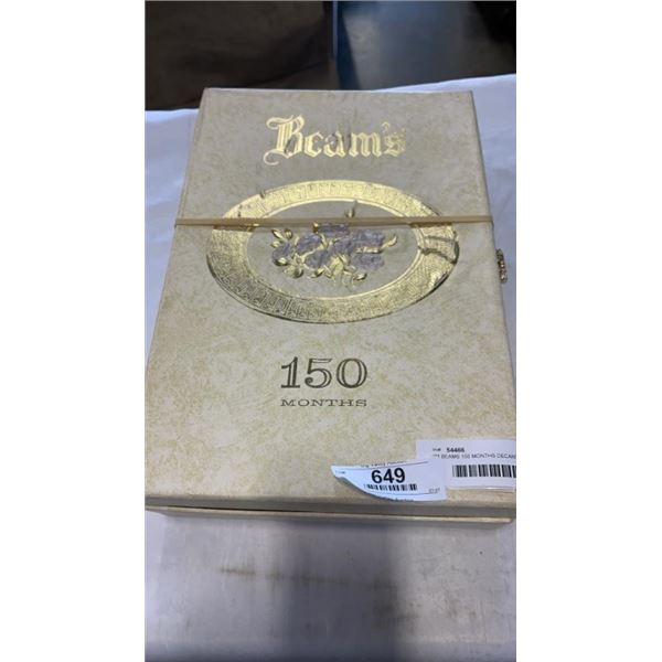 JIM BEAMS 150 MONTHS DECANTER IN COLLECTOR PRESENTATION CASE