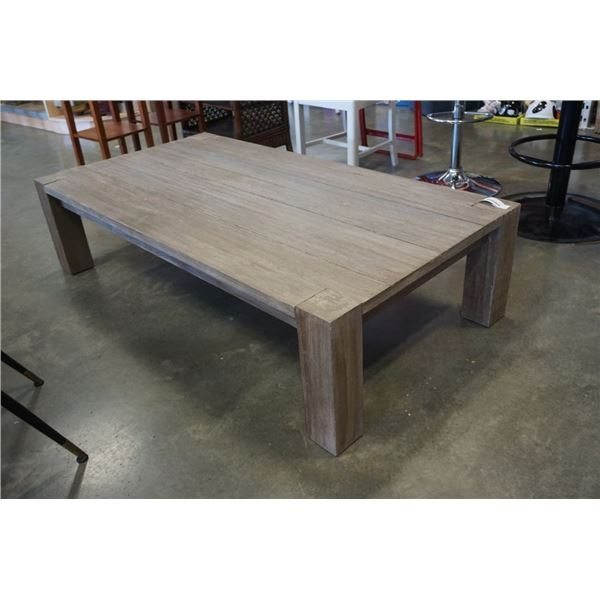 WOOD COFFEE TABLE 5 FOOT X 32 1/2 INCH X 15 INCHES TALL