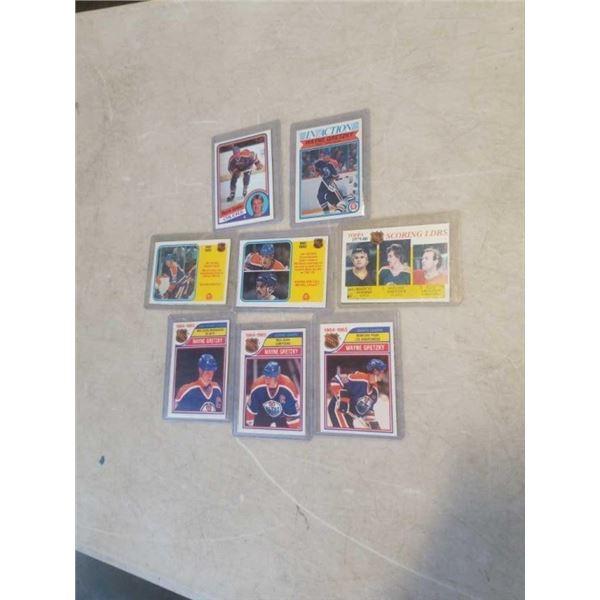8 HARD CASED WAYNE GRETZKY CARDS - 1980s