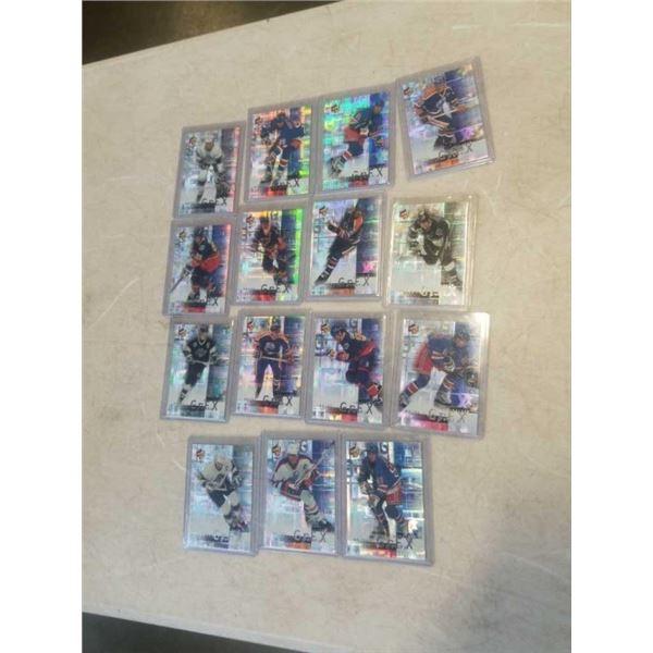 16 HARD CASED FOIL WAYNE GRETZKY HOCKEY CARDS