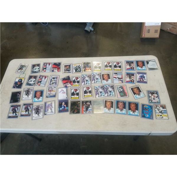 LOT OF HARD CASE WAYNE GRETZKY HOCKEY CARDS