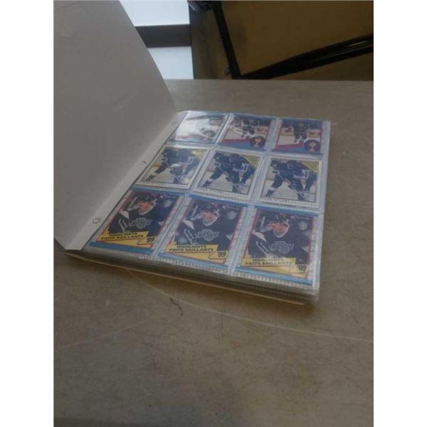 BINDER OF WAYNE GRETZKY HOCKEY CARDS