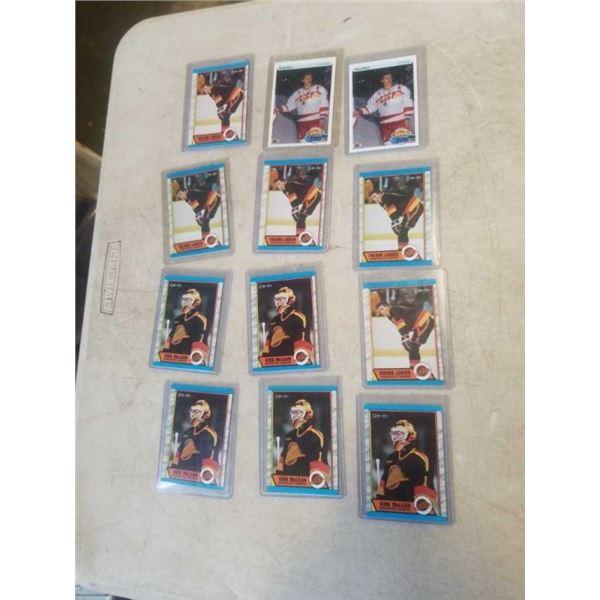 12 HARD CASED HOCKEY CARDS - TREVOR LINDEN, KIRK MCLEAN AND PAVEL BURE