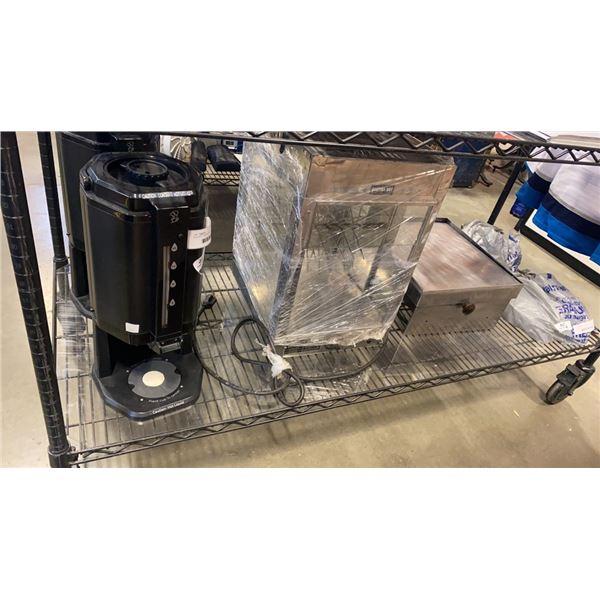 GLENRAY MODEL 56 HOT DOG MACHINE WITH BUN WARMER AND COFFEE THERMOS