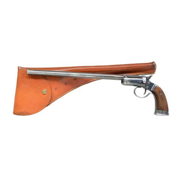 J. STEVENS ARMS CO. HANDY GUN AOW IN 410 & 22 LR.