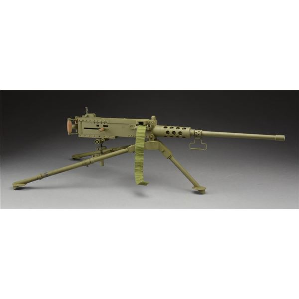 MODEL OF WWII US 50 CAL BROWNING MG WITH GROUND